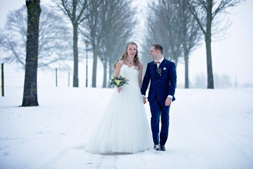 Bryllupsfotograf vinter Viborg
